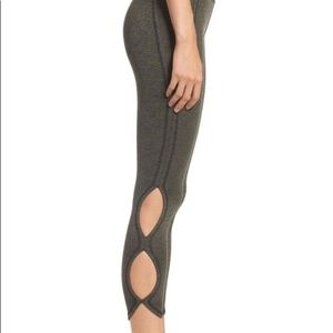 Free People Movement Green Cut Out Leggings Small